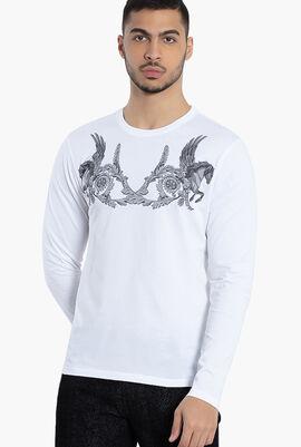 Gianni Long Sleeves Cotton T-Shirt