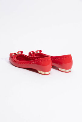 Jelly Vara Bow Cutout Flats