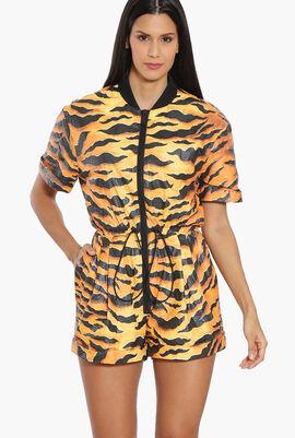 Tiger Camouflage Paper Romper