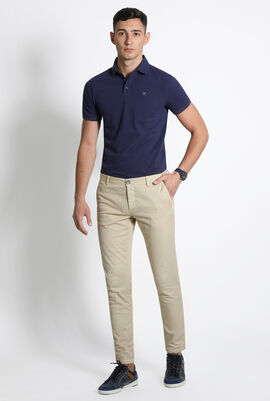 Micro Diamond Slim Fit Chino Trousers