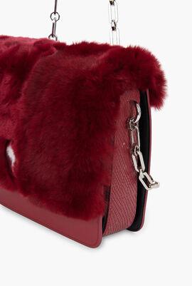 Fur Flap Crossbody Bag