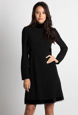 Crepe Long Sleeve Dress