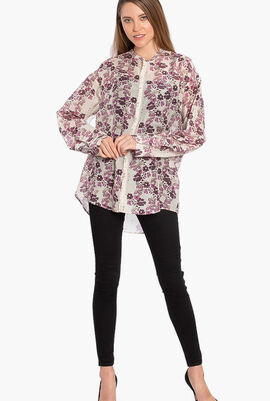 Floral Print Long Sleeves Shirt