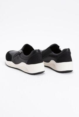 Omaya B Leather Slip-On Sneakers