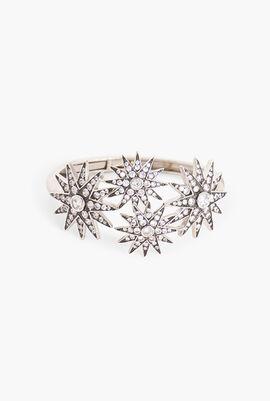 Starburst CZ Bangle Bracelet